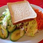 Veggie sandwich en pan de molde