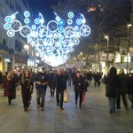 The La Rambla street outside the hotel