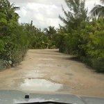 Bumpy beach road access