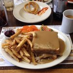 Hot turkey sandwich - huge & delicious!