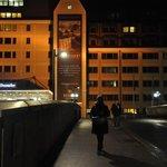 bridge leading to the hotel