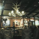 Interior of the restaurant, cattle ranch themed
