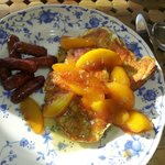 French Toast with Peaches