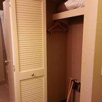 Good sized closet.
