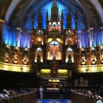 Notre-Dame Basilica of Montréal-a short walk away