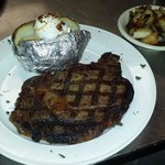 Hand Cut Ribeye and Baked Potato