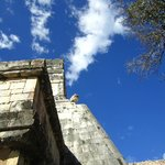 Blue Sky at Chichen Itza