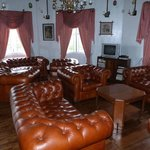 chesterfield chairs in lounge