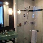 Great shower, spacious bathroom