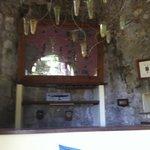 il bar, ricavato all'interno del mulino