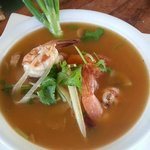 tom yum kung(traditional Thai hot and sour prawn soup)