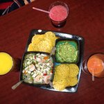 Ceviche and fresh juices