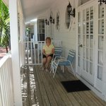 Porch of our one bedroom unit, beachside