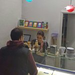 At ice cream Bar by Souvlaki Bar