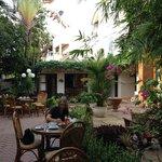 Breakfast area gardens