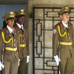 Guards at Marti mausoleum