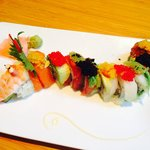 The dragon roll at Oysy in downtown Chicago.