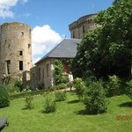 Le chateau from the orchard