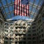 Hotel lobby roof