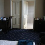 Room we had, bathroom on right was a good size, the door on left was a walk in wardrobe.