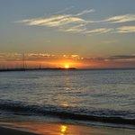 Pôr-do-sol na playa mansa