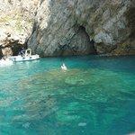 Green grottoe where we swam