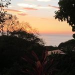 sunset view from our patio. this was about the time the howler monkeys would sing.
