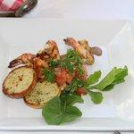 shrimp bruschetta super awesome, a ton of flavor!