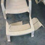 Lawn Chair by broken Pool