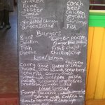 The menu for the day
