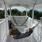 Hammocks on upper deck