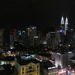 cityscape from room during night