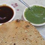 pappadum w/ sauce - just 10 baht ea.