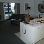 living/dining area of 1 bedroom suite 210
