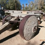 Old Lumber Hauler with Wood-and-iron wheels