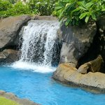 Waterfall in pool area - cave behind it!