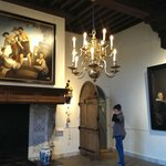 beautiful paintings, room and old Dutch tiles
