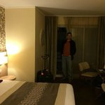 Hubby enjoying our suite