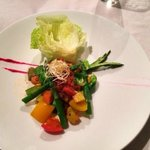 Lettuce asparagus wraps