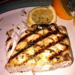 charbroiled halibut...YUM!