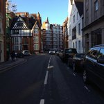 Just around the corner from the Cadogan Hotel