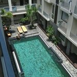 View from 4th floor to the pool