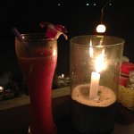 Melon Shake bei Kerzenschein