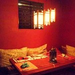 Inside dining nook