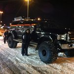 Our awesome ride hunting the elusive Aurora Borealis