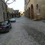 One of the many cobbled streets in Old Town