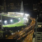 View of the Happy Valley race course at night