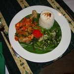 Grilled chicken with cooked Minahasan salsa