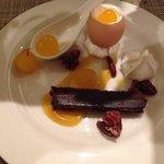 Sweet egg dessert