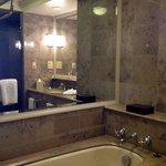 Pampering toiletries in marble bathrooms